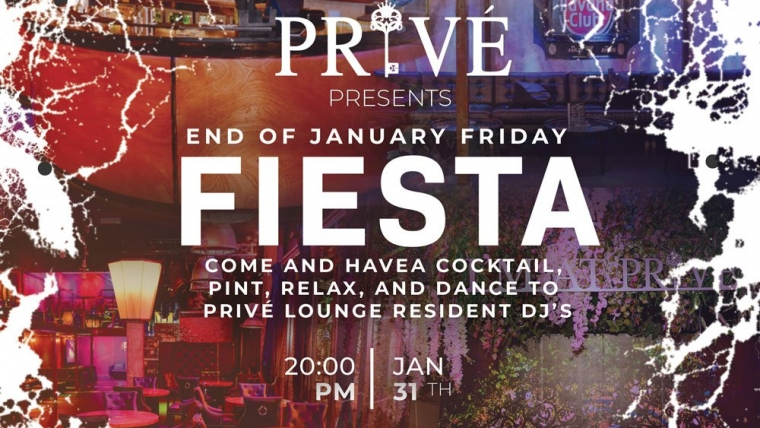 END OF JANUARY FRIDAY FIESTA